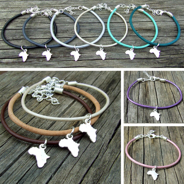Eden Art silver Africa leather bracelet collection