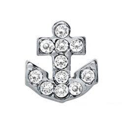 Diamante Anchor Floating Charm