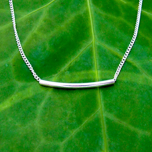 Noodle Bar Necklace - Sterling Silver 925