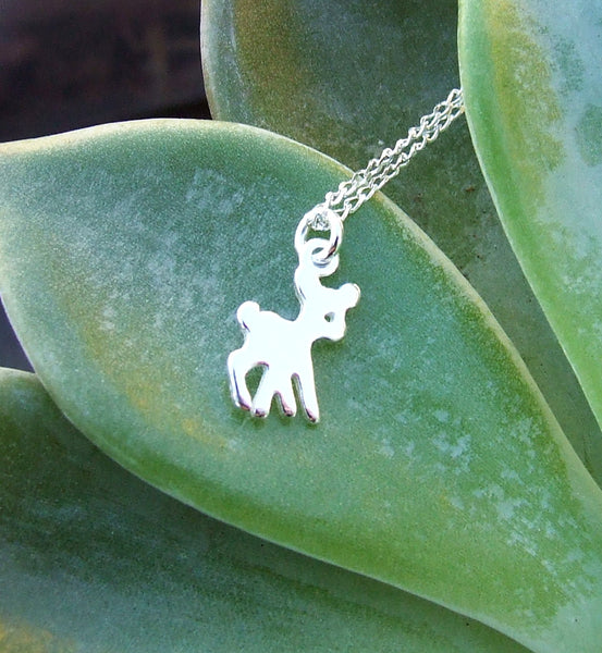 Bambi Deer Necklace - Sterling Silver 925