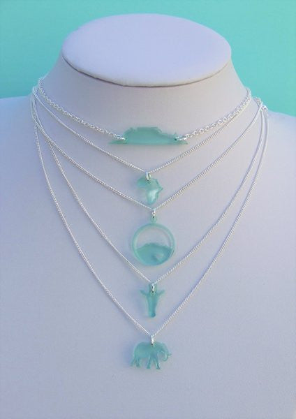 Perspex Table Mountain Necklace - 9 different colours