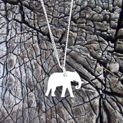 Perspex Elephant Necklace - 6 different colours