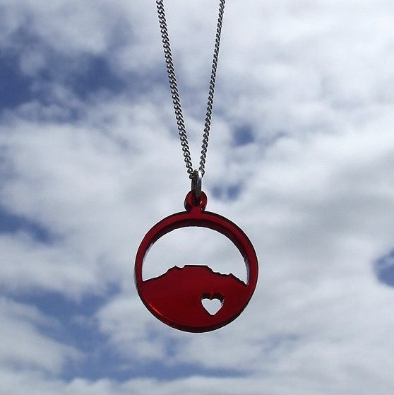 Perspex Round Table Mountain Necklace - 9 different colours
