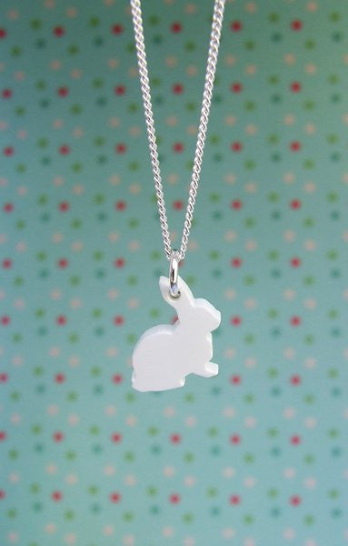 Perspex Bunny Necklace - 8 different colours