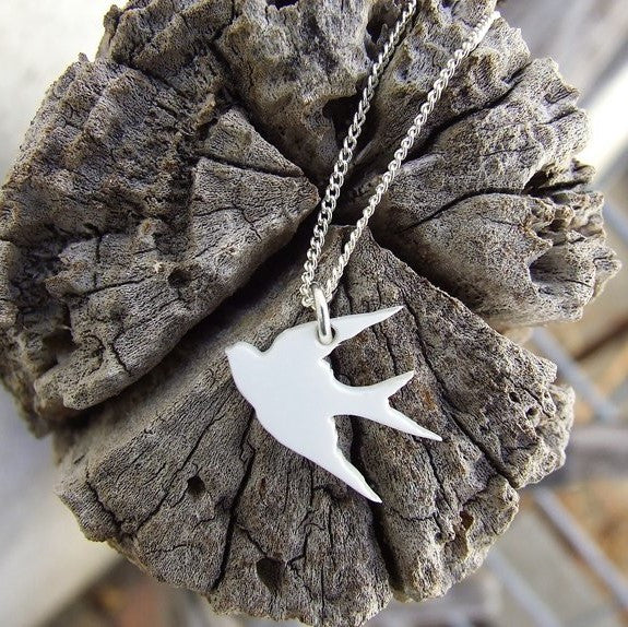 Perspex Swallow Necklace - 7 different colours
