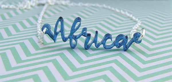 Perspex Africa Word Necklace - 4 different colours