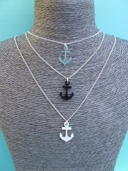 Perspex Anchor Necklace - 6 different colours