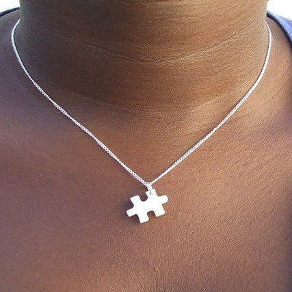 Perspex Puzzle Piece Necklace - 4 different colours