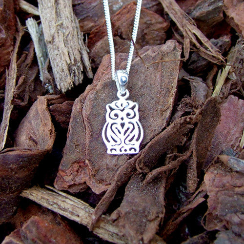 Owl Necklace - Sterling Silver 925