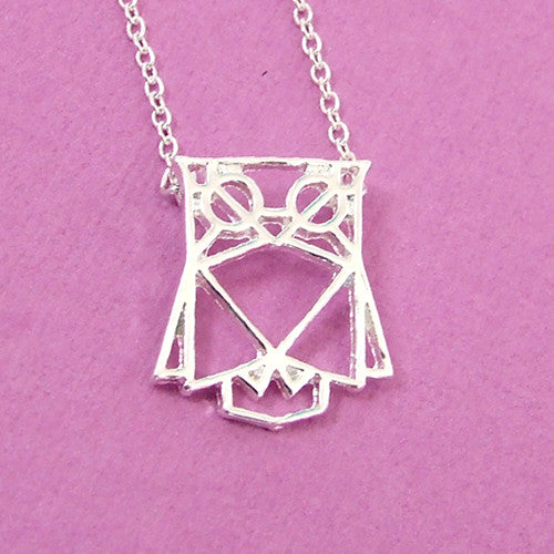 Origami owl pendant charm necklace silver chain