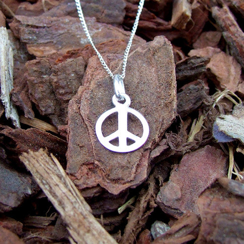 Peace Necklace - Sterling Silver 925