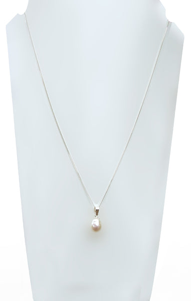 sterling silver 925 freshwater pearl necklace chain