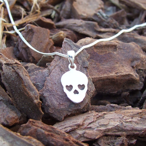 Skull Necklace - Sterling Silver 925