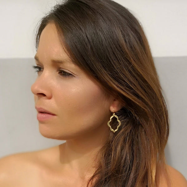 Moroccan small bracket earrings