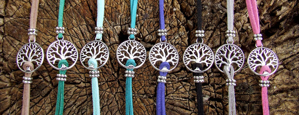 Suede Tree of Life Bracelet