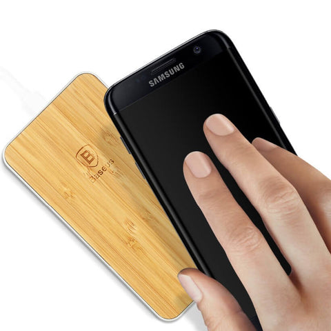 Rectangular Wood Wireless Charger for iPhone / Samsung