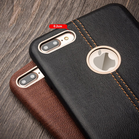 iPhone 7 Leather Back Case - Qialino