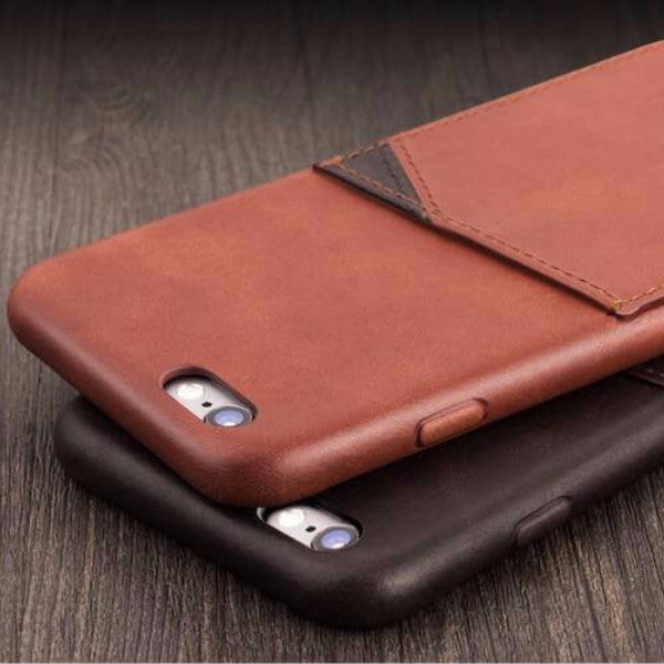 iPhone 6/6S Plus Genuine Leather Case with Card Holder - By Qialino