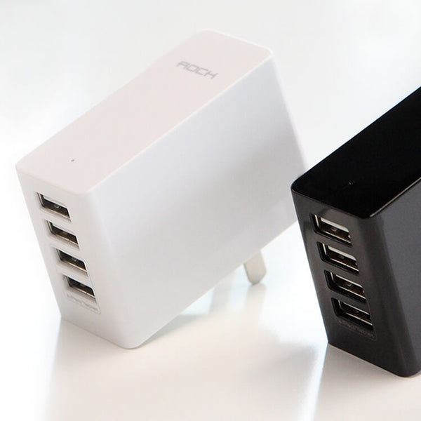 4-Port USB Travel wall charger