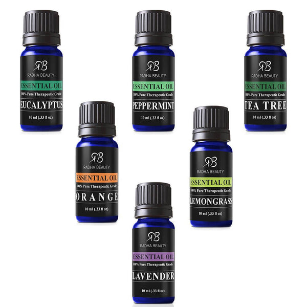 Aromatherapy Top 6 Essential Oils 100% Pure