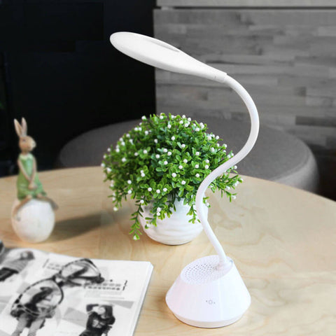 LED Table Lamp with Bluetooth Speaker Player