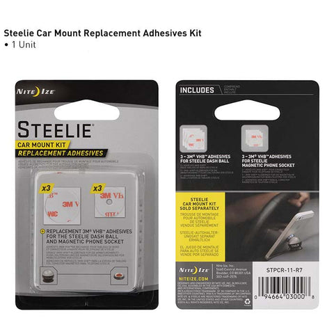 Steelie Car Mount Kit Replacement Adhesive Kit
