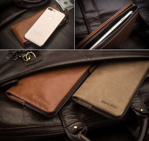 Universal Leather Wallet Case for iPhone / Samsung - Clutch Wallet