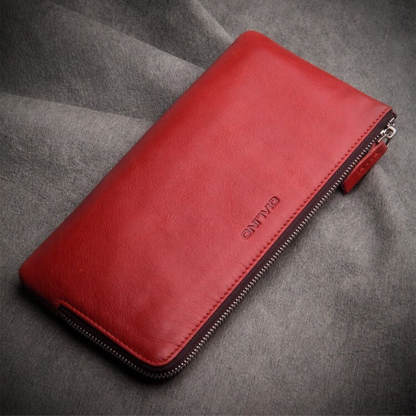 iPhone / Samsung Universal Leather Zip Wallet