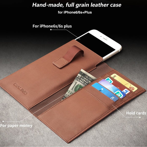 iPhone / Android Genuine Leather Case & Wallet - By Qialino