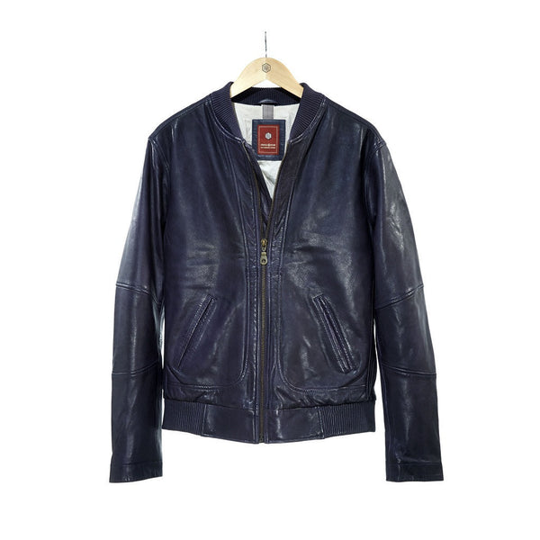 Leather Navy Jacket