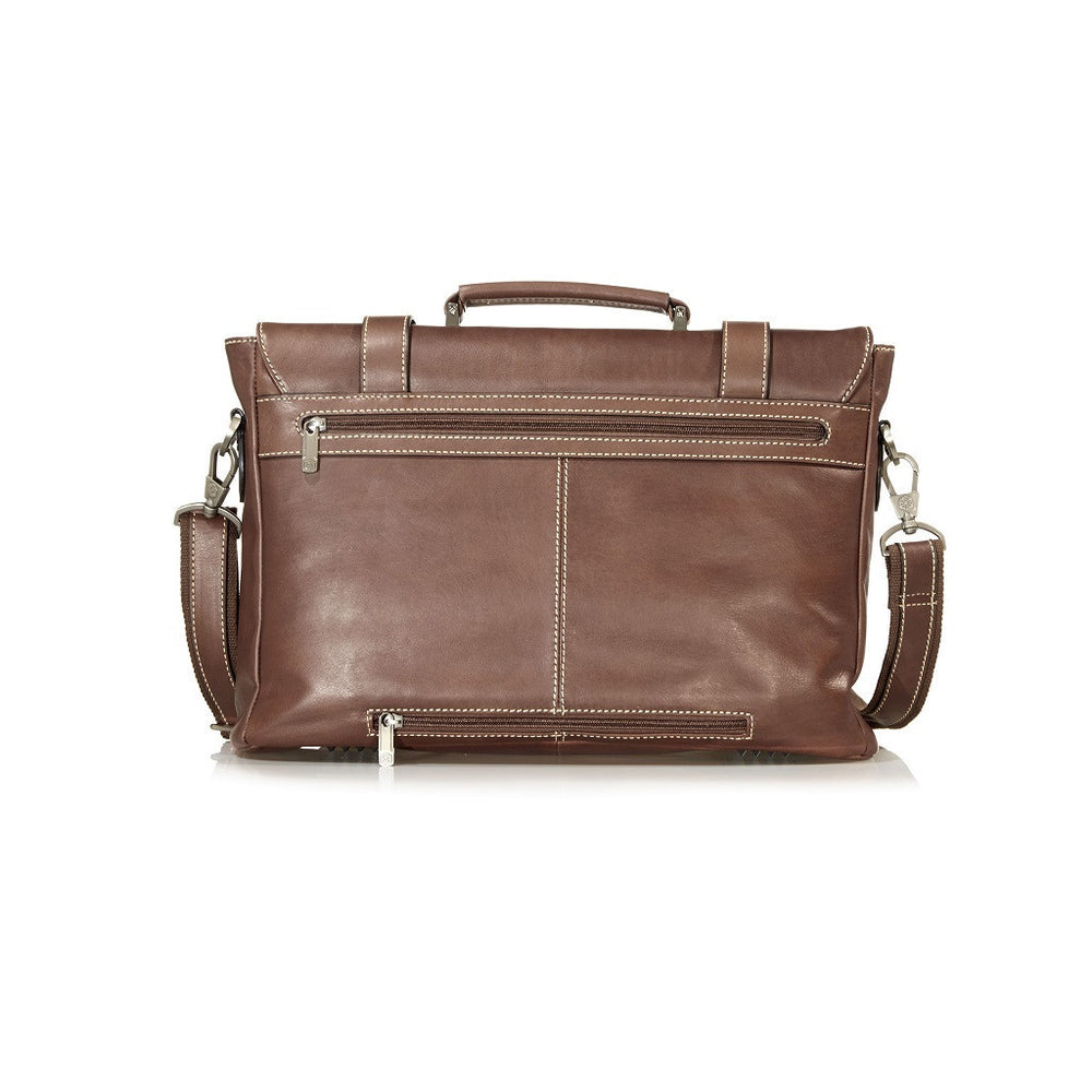 Montana Leather Casual Laptop Briefcase