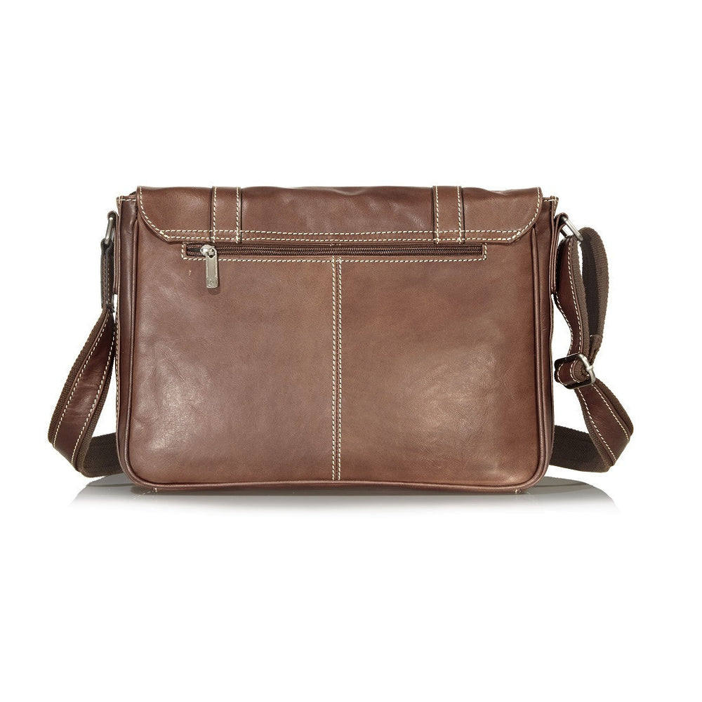 Montana Leather Casual Messenger