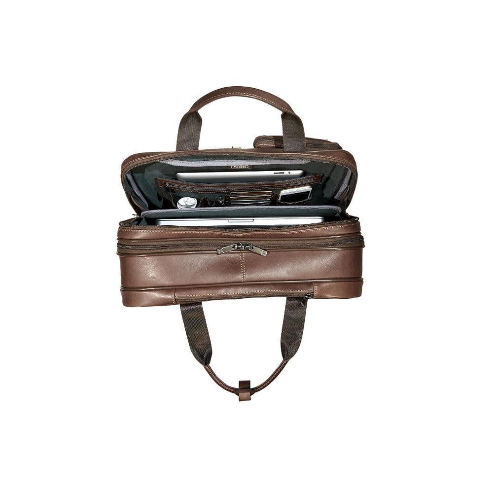 Montana Leather Laptop Bag On Wheels