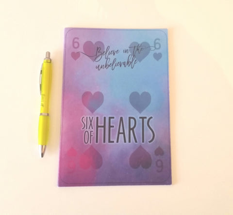 Six of Hearts Notebook & Pen