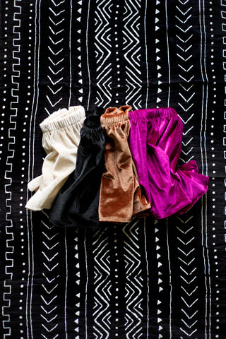 Set of 3 Velvet Shorties & Skirts