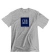 """NAVY GOD"" Tee (GREY/WHITE)"