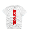"""JUST GOD V2"" TEE (WHITE/RED)"