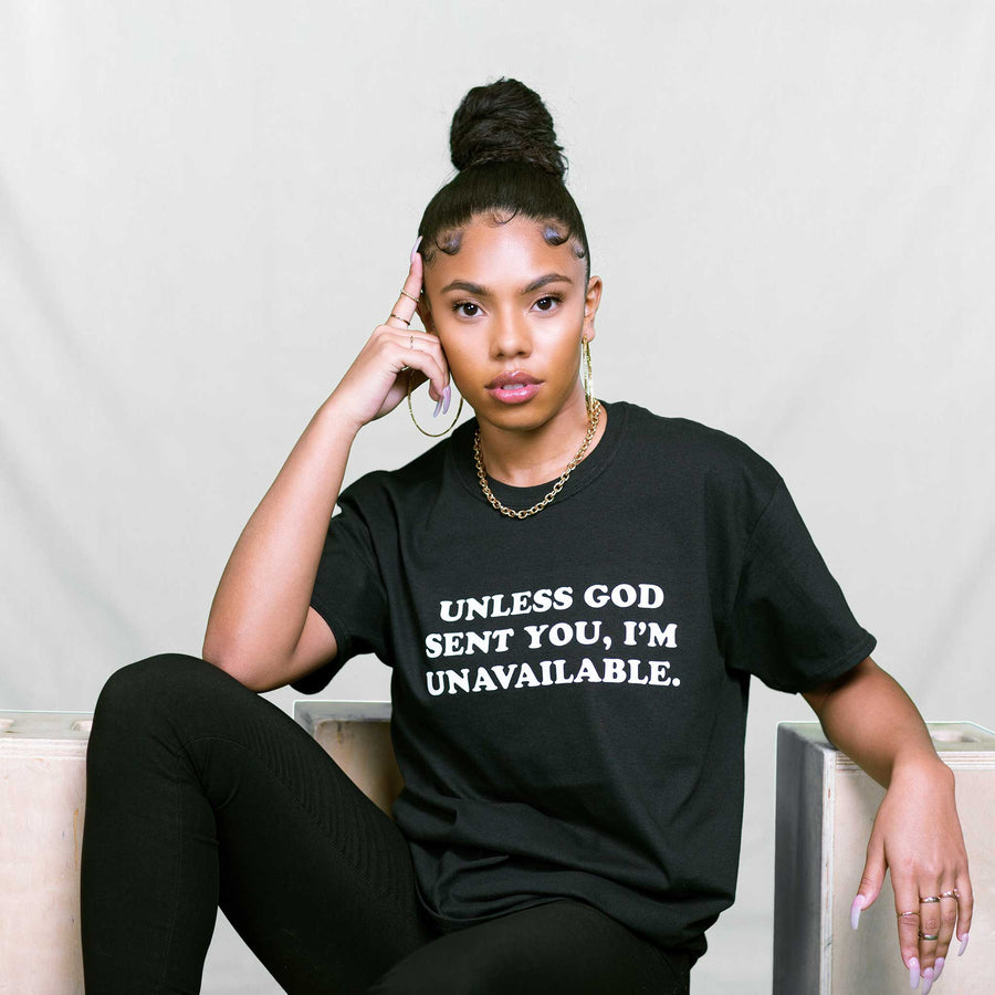 """UNLESS"" TEE (BLACK/WHITE)"