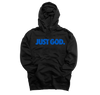 """JUST GOD"" HOODIE (BLACK/BLUE)"