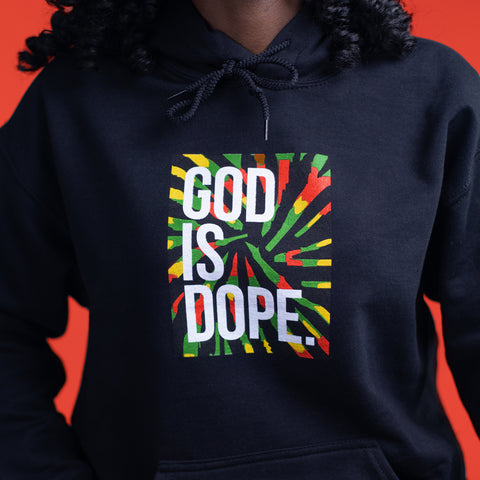 "GOD IS DOPE HEAD BAND ""BLACK/RED/BLUE"""