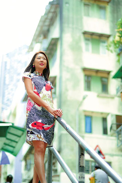 Qipao Cheongsam designer Grace had an interview with Ming Pao