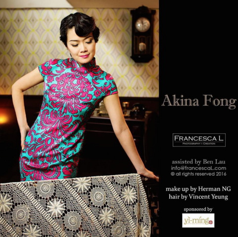 Gorgeous Akina Fong Is In Yi Ming Qipao With Oriental Make Up And Eleg