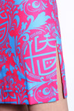 MICKEY CHINESE SEAL PATTERN PRINT QIPAO