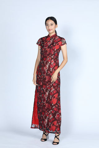 CAMILLA Long Cheongsam (Red)