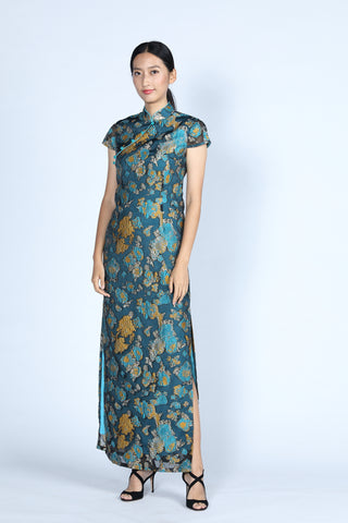 CAMILLA Long Cheongsam (Blue)