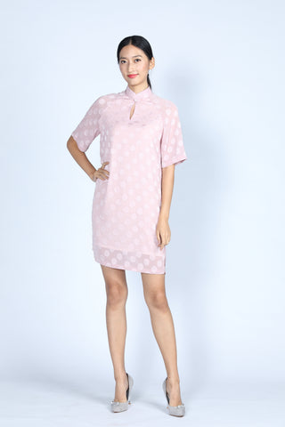 ABBEY Loose Fit Dress (Soft Pink)