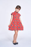 DISNEY Girls' Kungfu Mickey Cotton Gathered Dress