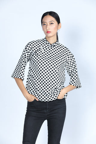 ESSIE Polka Dot Top (White/ Black)