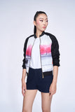 DISNEY Mulan Jeana Lace Bomber Jacket (Black)