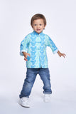 DISNEY Boys' Mickey Cotton Oriental Jacket (Aqua)